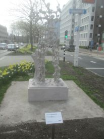One of the many statues in Leiden.