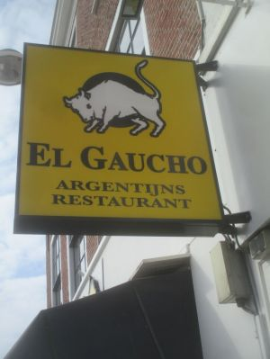 El Gaucho restaurant (image taken in daylight later).