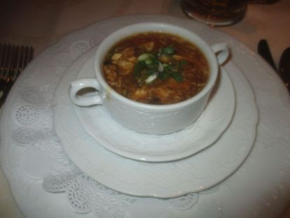 Excellent hot and sour soup.