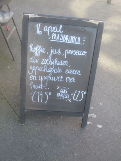 Daily specials, de Sierkan cafe, Den Haag.
