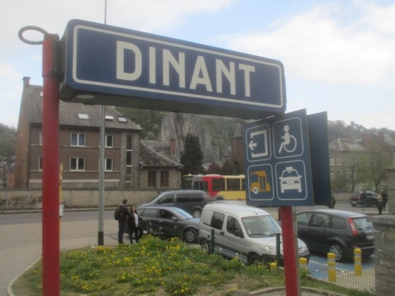 Dinant railway station.