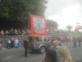 Orange Order banner.