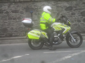 Emergency services handling of the 12th demonstration in Tandragee, 2019.