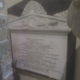 Memorial to Capt. Turner Macan, St. Patrick's Cathedral, Armagh.