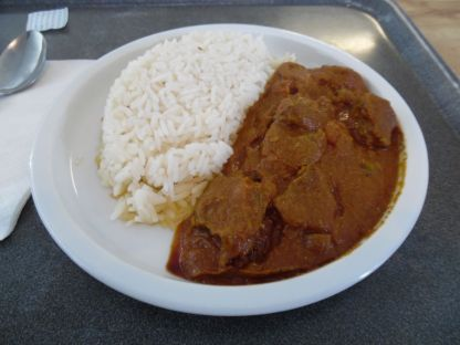 A nicely spiced lamb curry.
