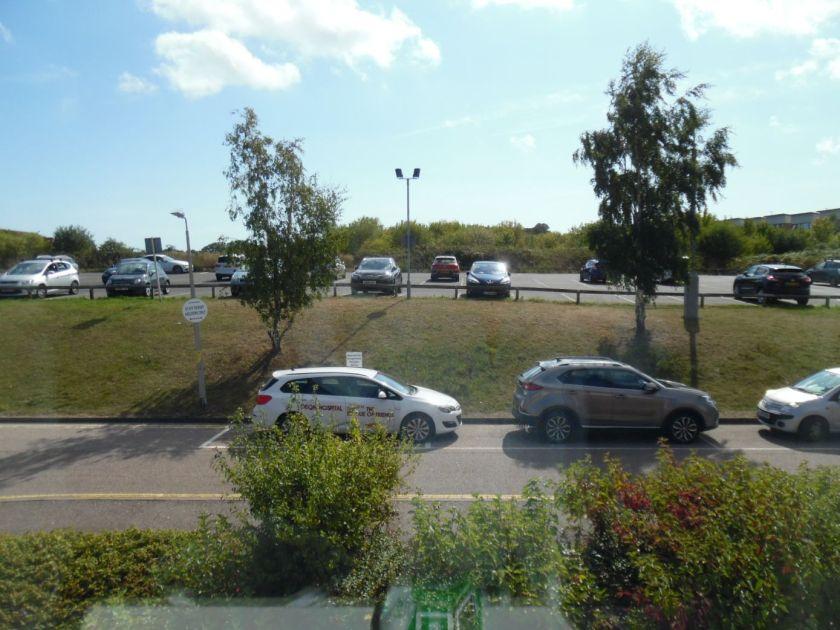 Car park, QEQM hospital, Margate.