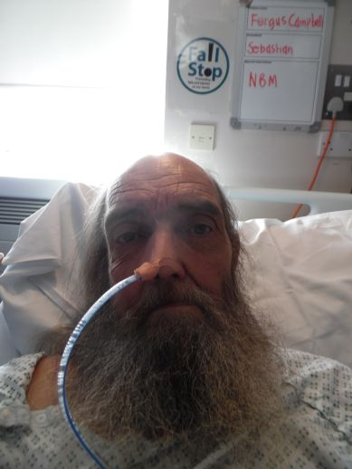 Me in bed, QEQM hospital, Margate.