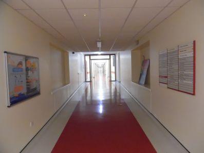 Hospital corridor, QEQM hospital, Margate.