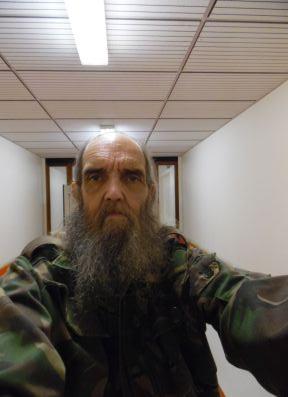 Me in a hospital corridor, QEQM hospital.