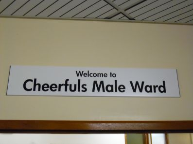 Ward sign, QEQM hospital, Margate.