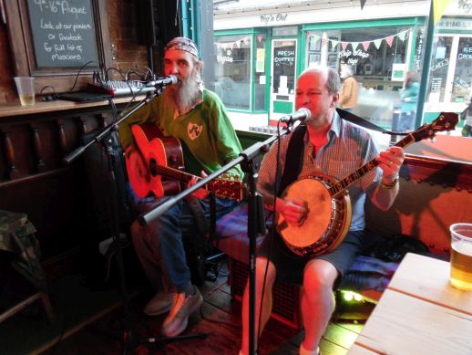 Paul Lucas and Fergy Campbell at the Magnet micropub Broadstairs.