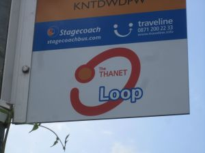 Thanet Loop bus sign.