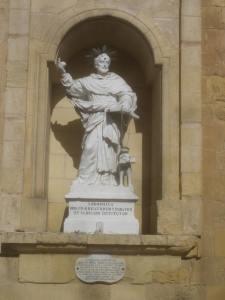 Statue of St. Dominicus, Birgu, Malta.