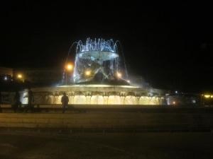 Triton Fountain at night, Valetta.