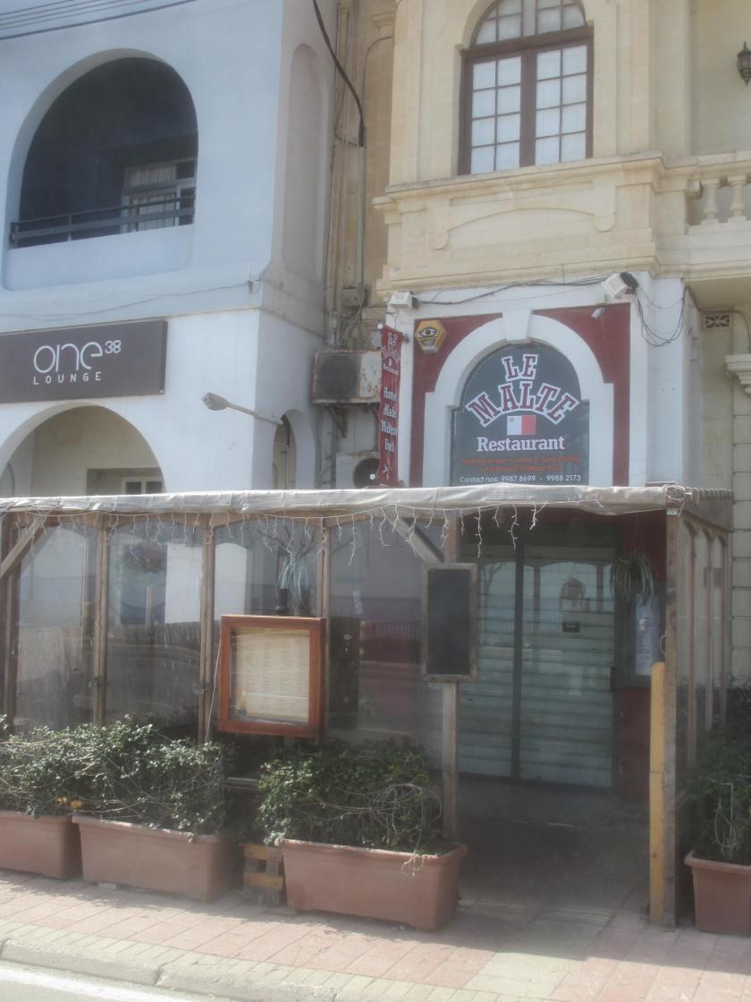 Le Malte restaurant, Sliema, Mlta.