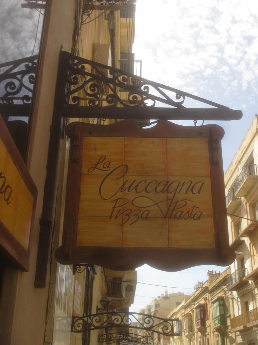 La Cuccagna restaurant, Sliema, Malta