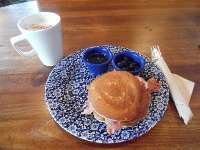Pancake breakfast, JD Wetherspoons pub.
