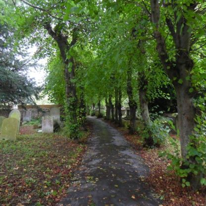 St. Peters churchyard.