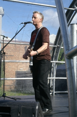 Billy Bragg onstage.